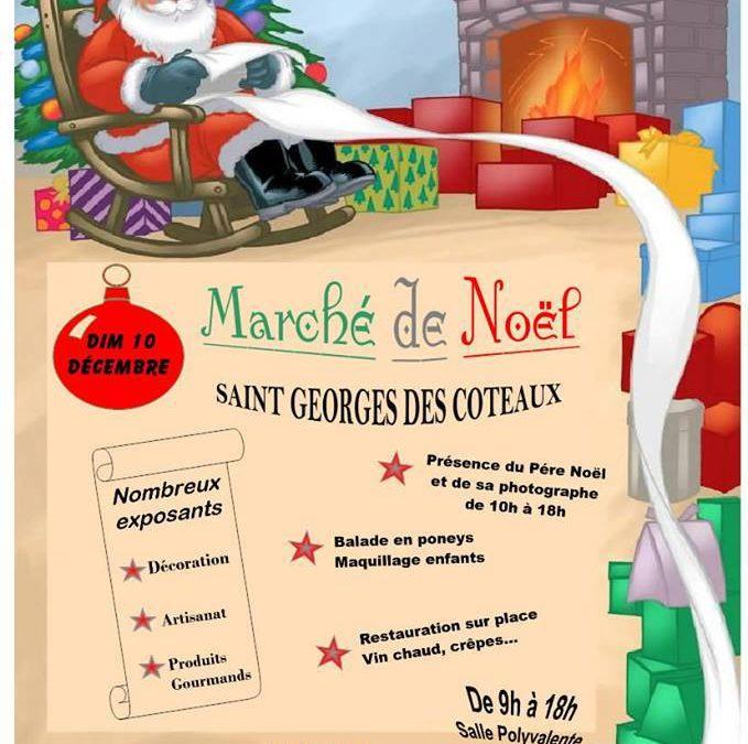 Marché de noël Saint Georges des coteaux